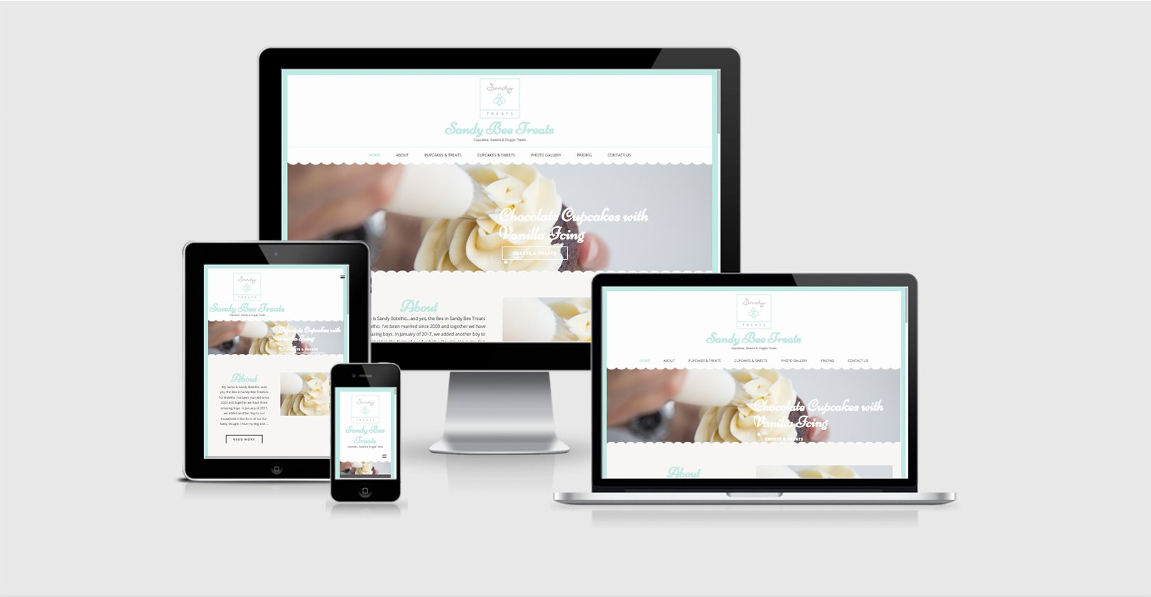 Website Design – Sandy Bee Treats