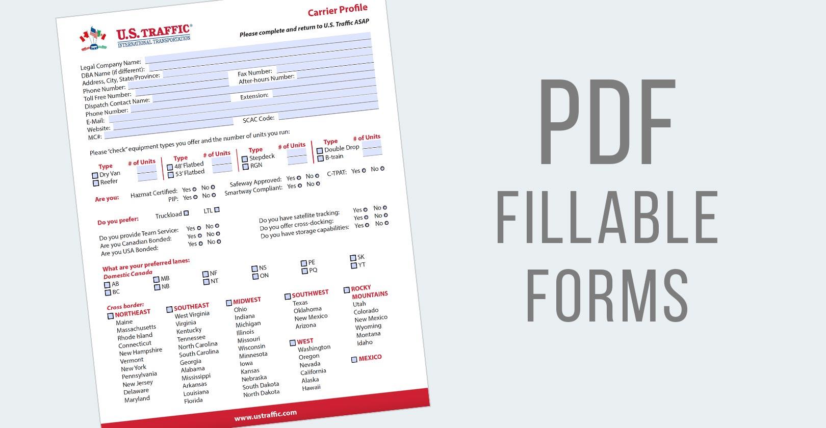 PDF Fillable Forms