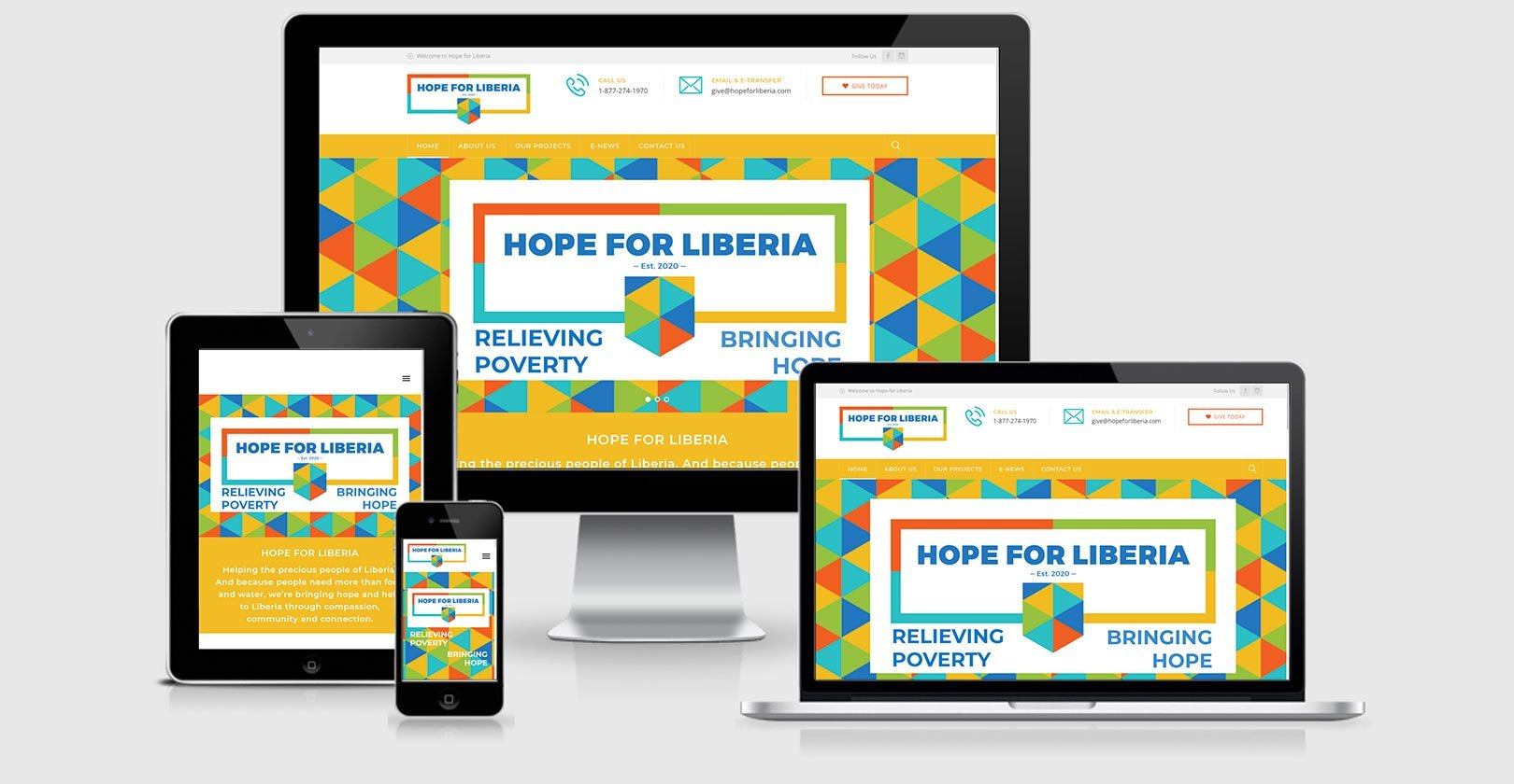 Website Design – Hope for Liberia