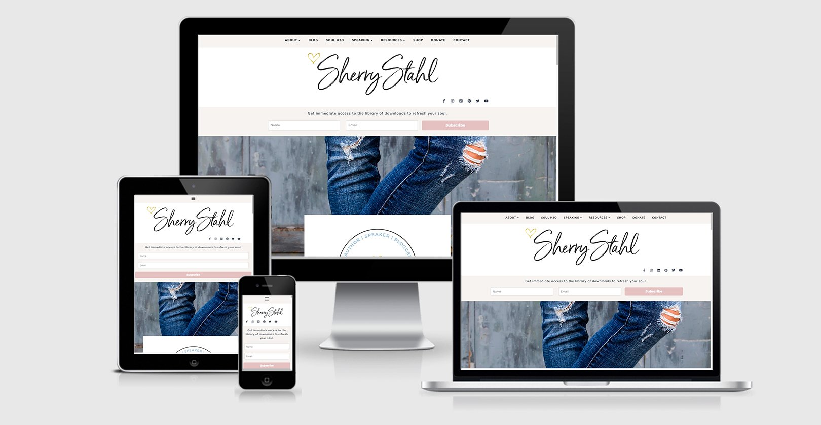 Website Design – Sherry Stahl – Author/Blogger/Speaker